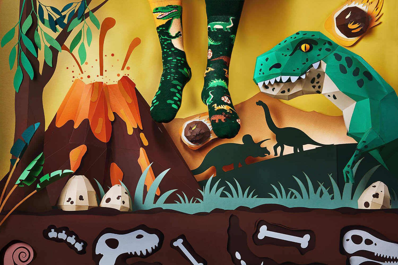 THE DINOSAURS - Skarpetki w dinozaury