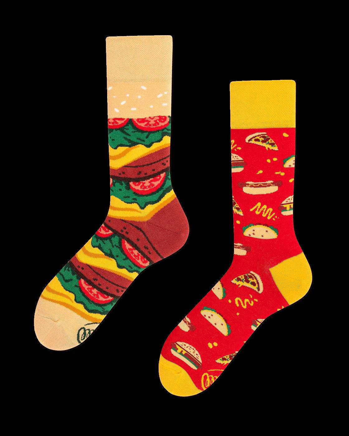 FAST FOOT - Skarpetki z hamburgerem