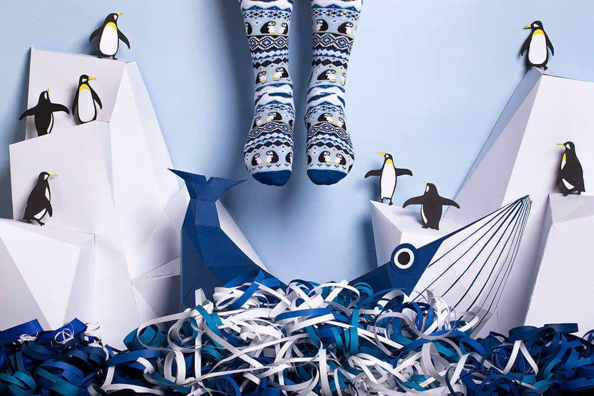ICE PENGUIN - Skarpetki w pingwiny