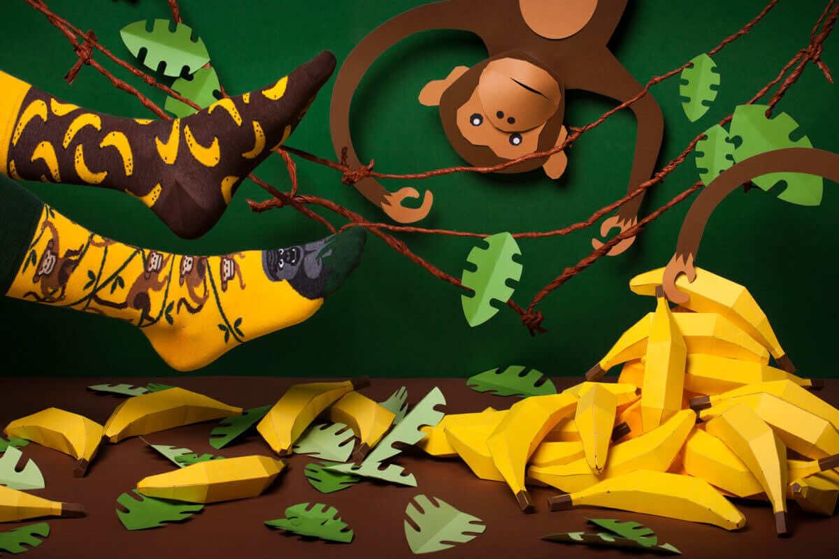 MONKEY BUSINESS - Skarpetki w małpy i banany