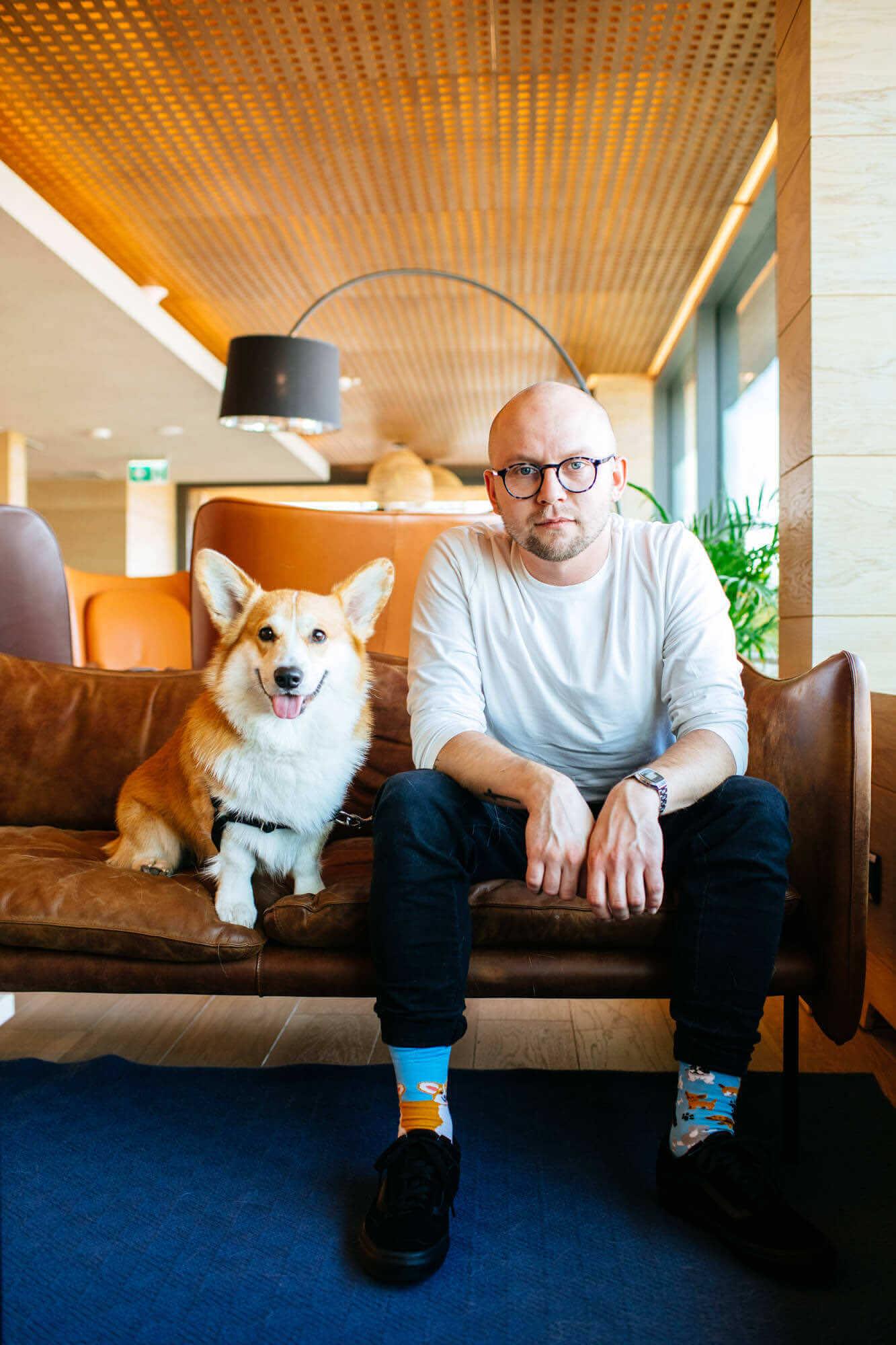 PLAYFUL DOG - Sokken met corgi