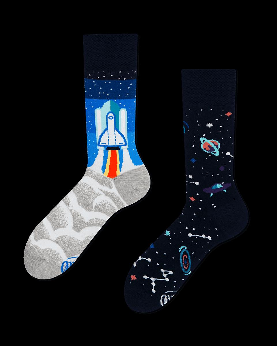 SPACE TRIP - Skarpetki z rakietą w kosmosie