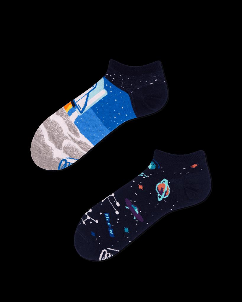 SPACE TRIP LOW - Weltraum Sneakersocken + Astronaut Sneakersocken