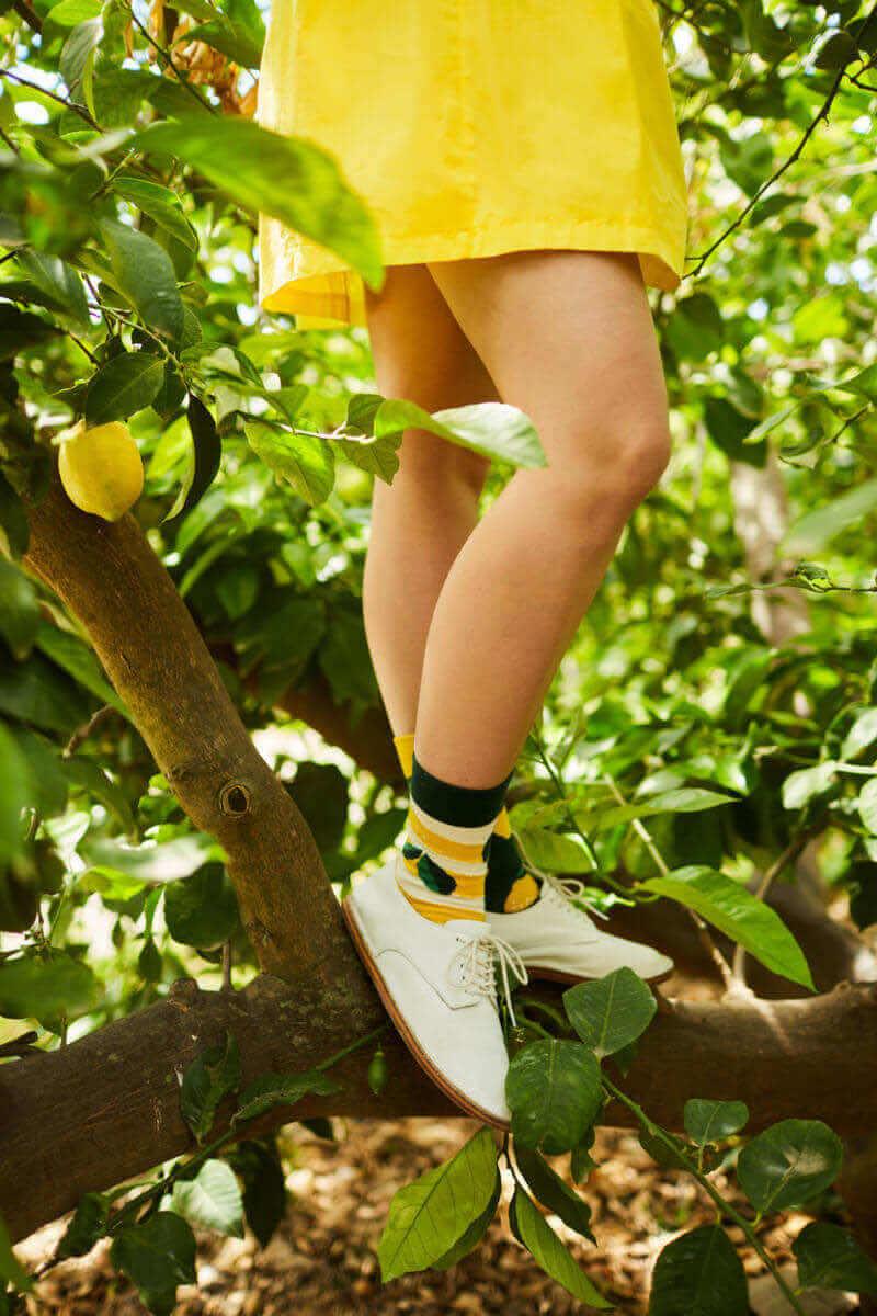 THE LEMONS - Chaussettes motif citrons