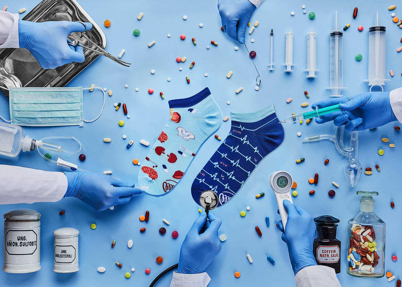medyczne skarpetki dla lekarzy