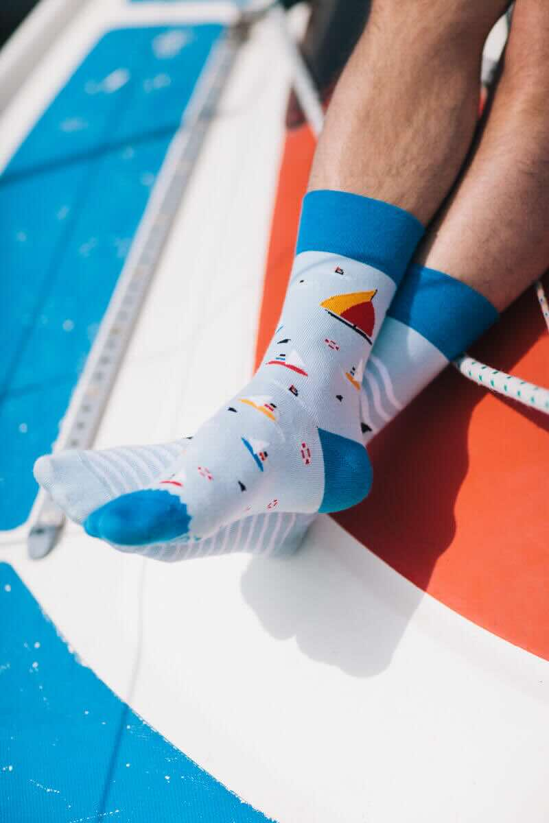 SURF AND SAIL - Chaussettes motif voiliers