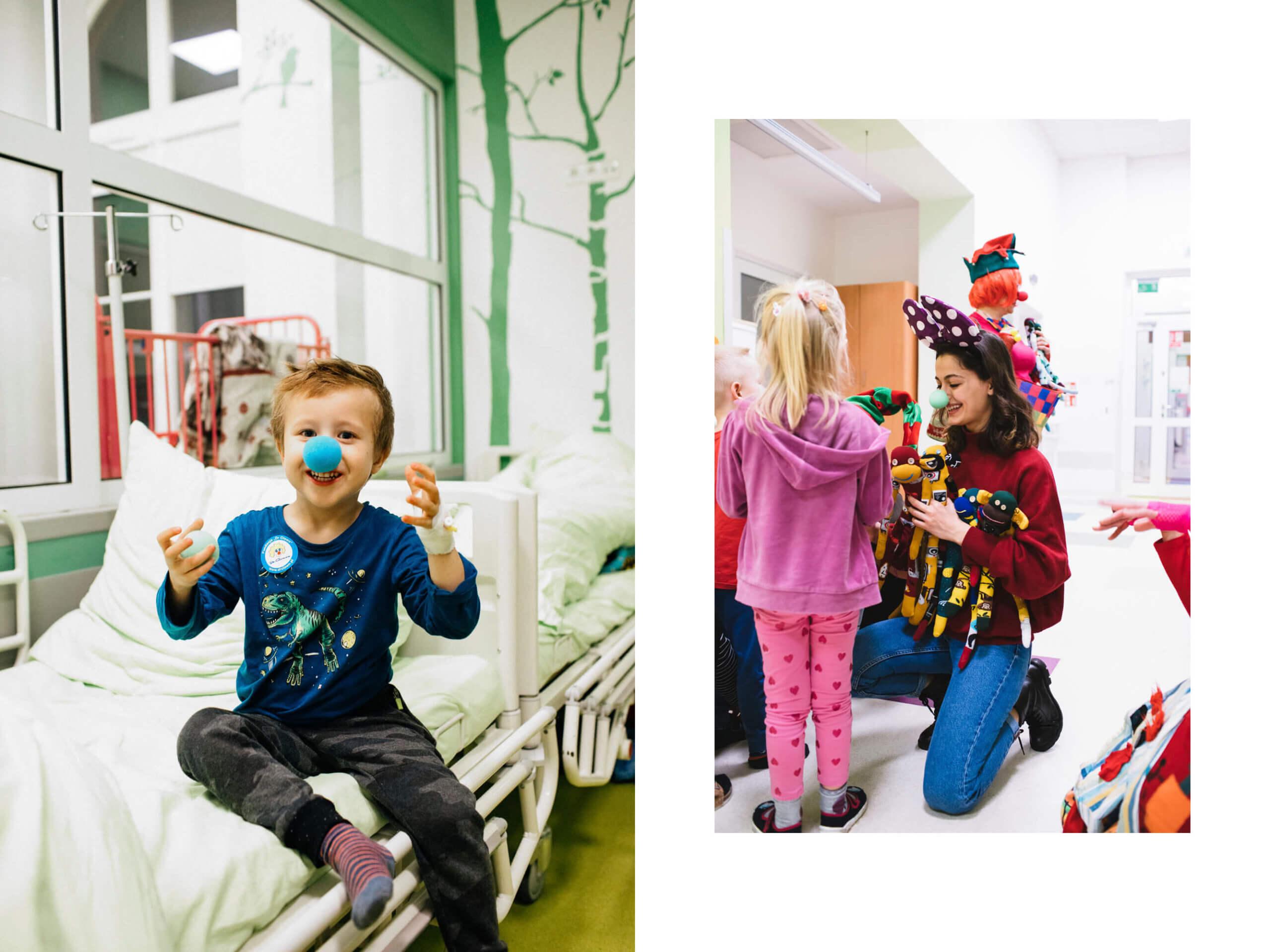 Share a pair i skarpetkowe małpki na oddziałach dziecięcych