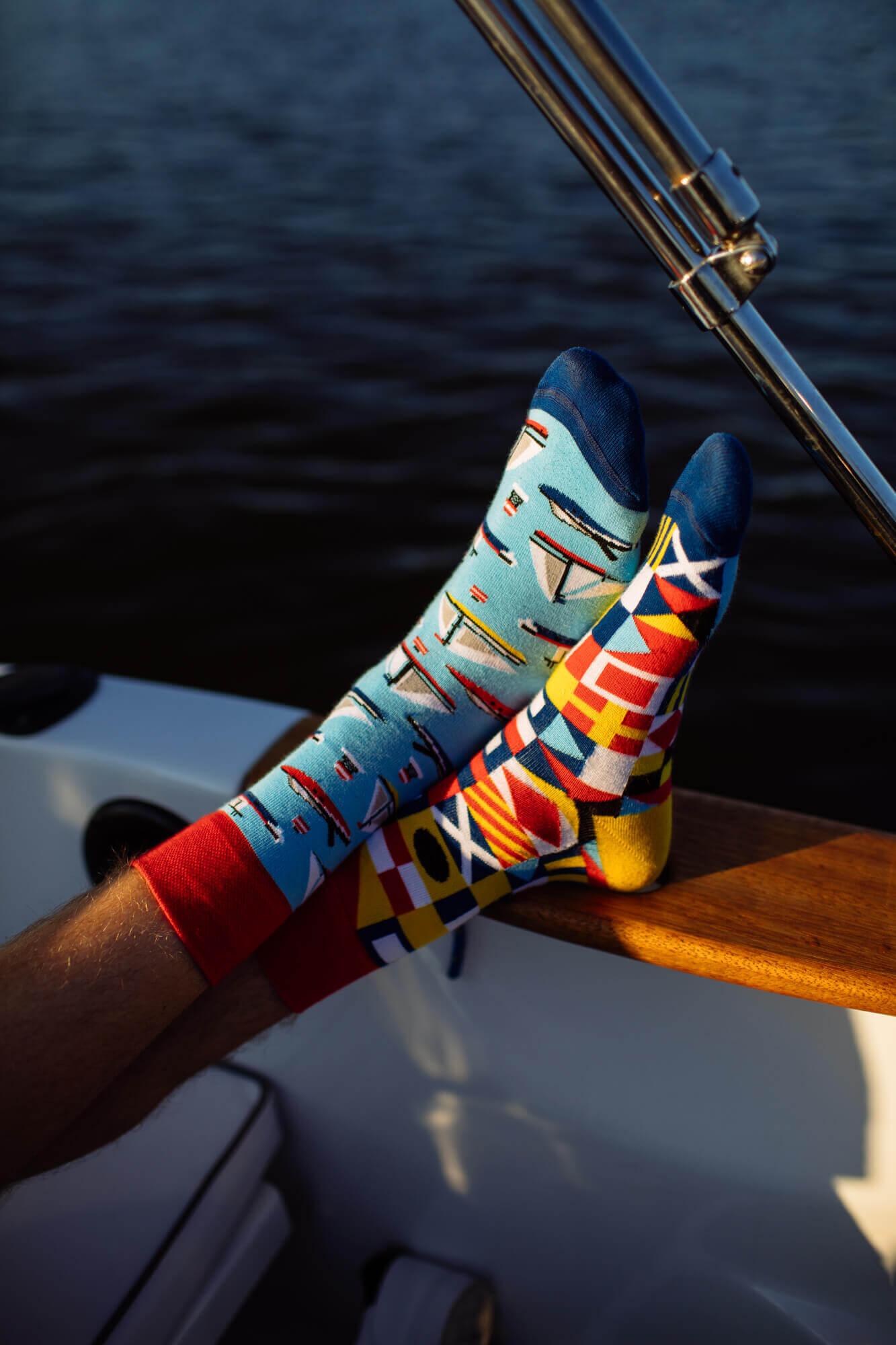 YACHT CLUB - Skarpetki w jachty i żaglówki