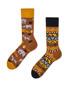 SAFARI TRIP - Skarpetki ze słoniami i żyrafami