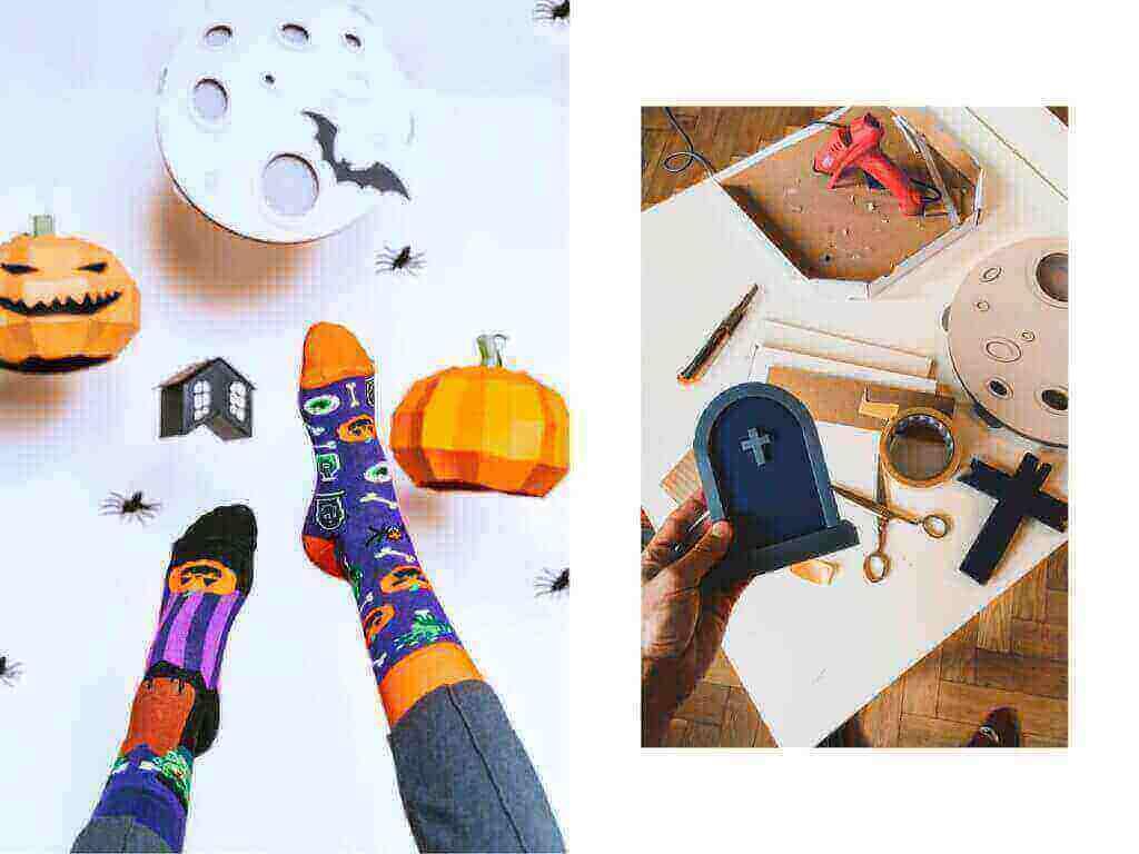 Halloween w świecie kolorowych skarpetek nie do pary