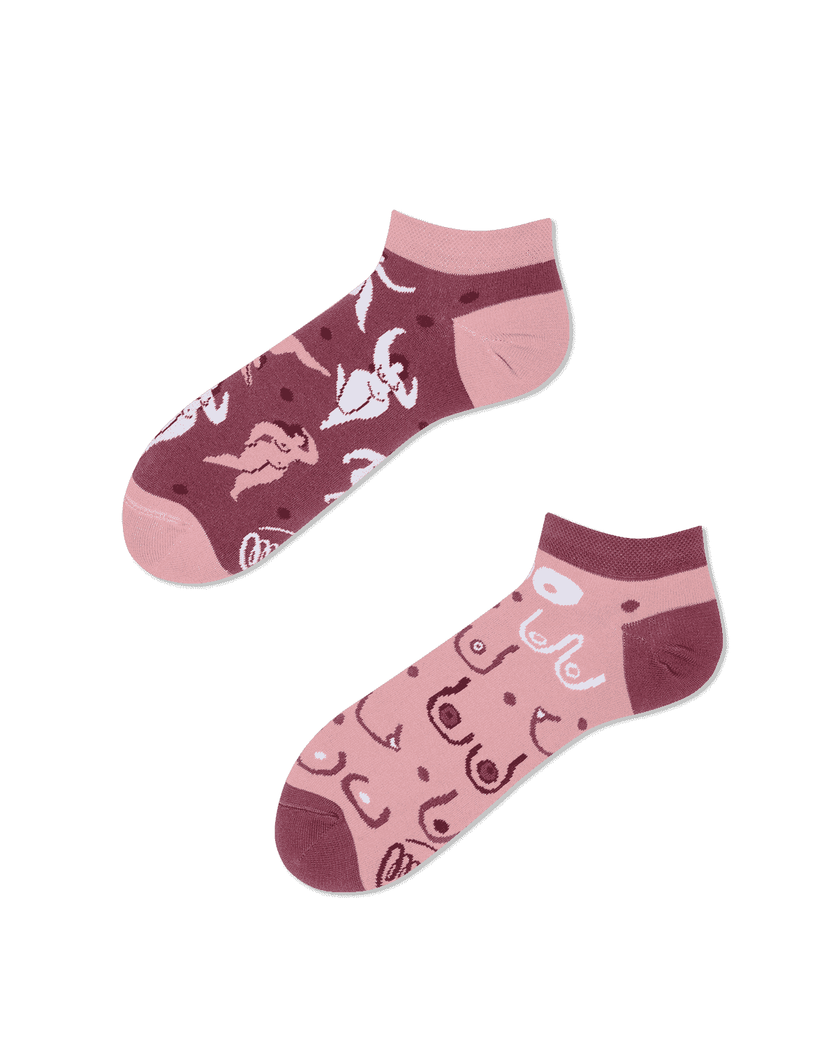 SIMPLY THE BREAST LOW - Body positivity low socks
