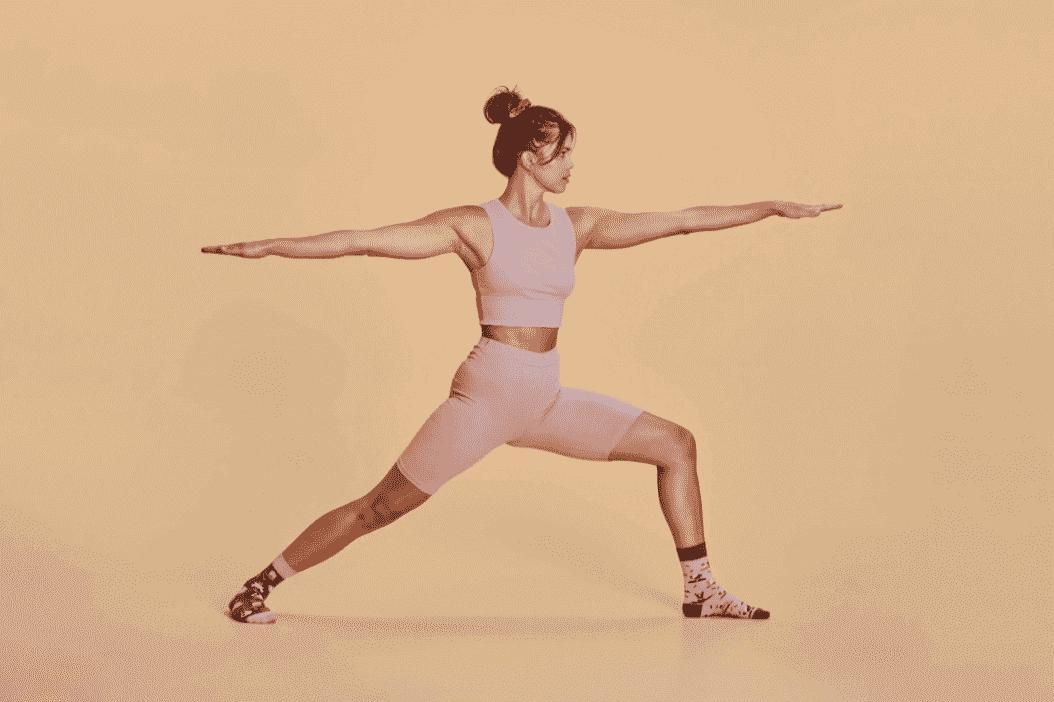 Der Krieger in Yoga Socken