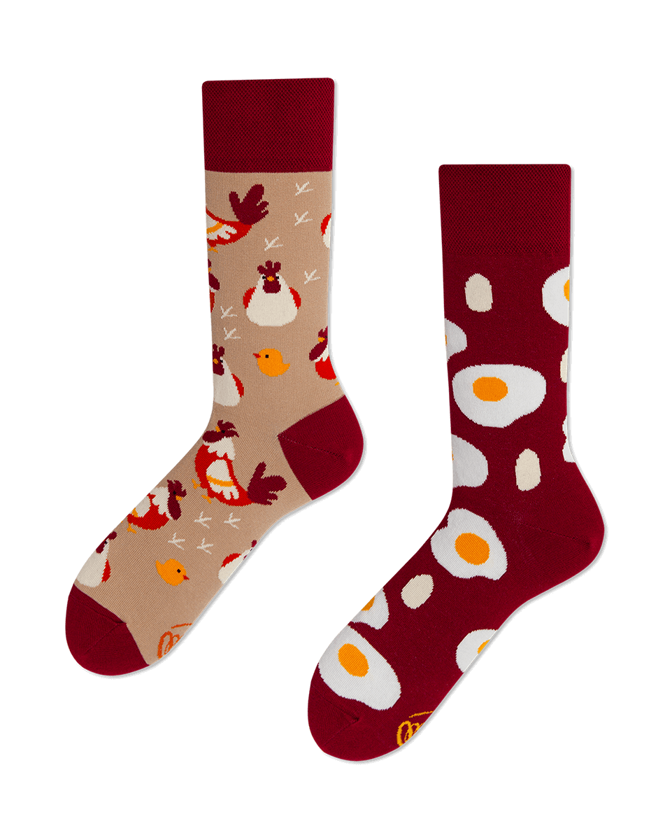 EGG AND CHICKEN - Sokken met eieren en kippen