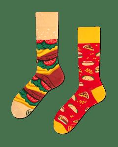 FAST FOOT - Chaussettes motif hamburger