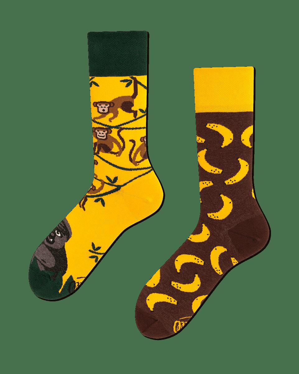 MONKEY BUSINESS - Chaussettes motif singes et bananes
