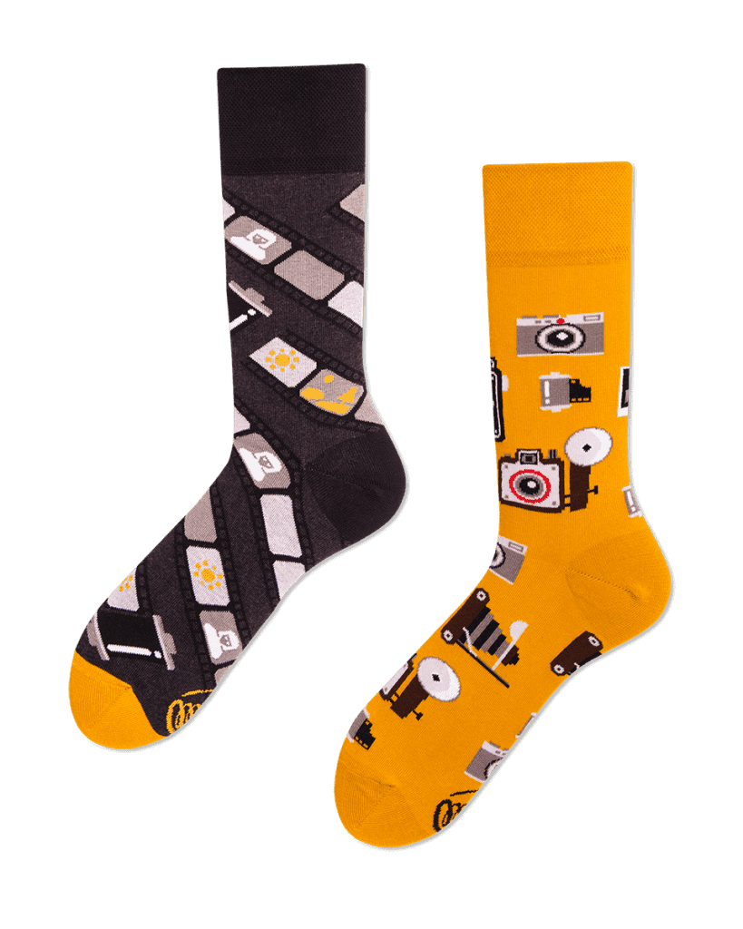 RETRO CAMERA - Sokken met retro toestellen