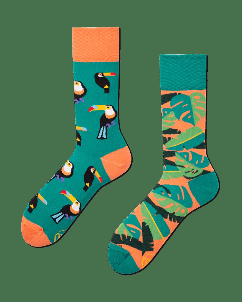 TROPICAL HEAT - Tropische sokken met toekans