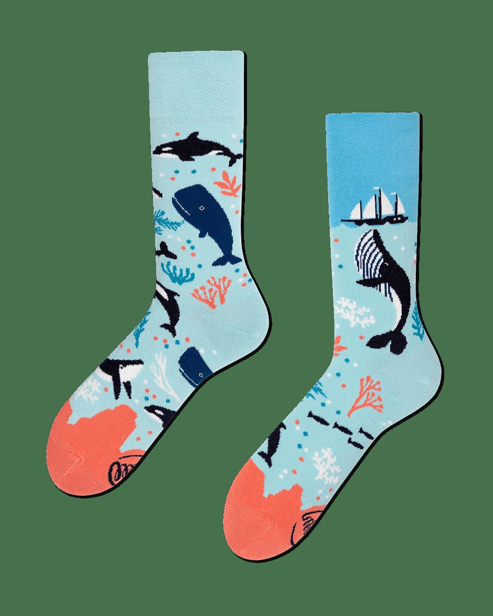 OCEAN LIFE - Chaussettes motif baleine