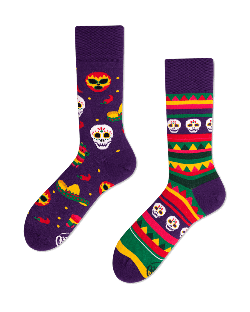 FIESTA MEXICANA - Carnavalsokken met doodshoofden